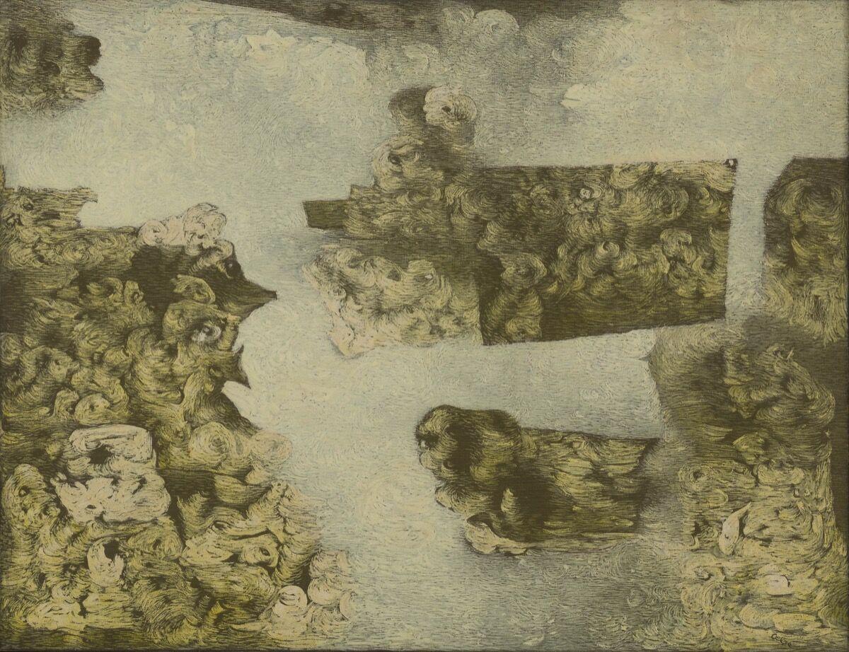 Richard Oelze, Vert (Green), 1962. Image courtesy of Michael Werner Gallery, New York.