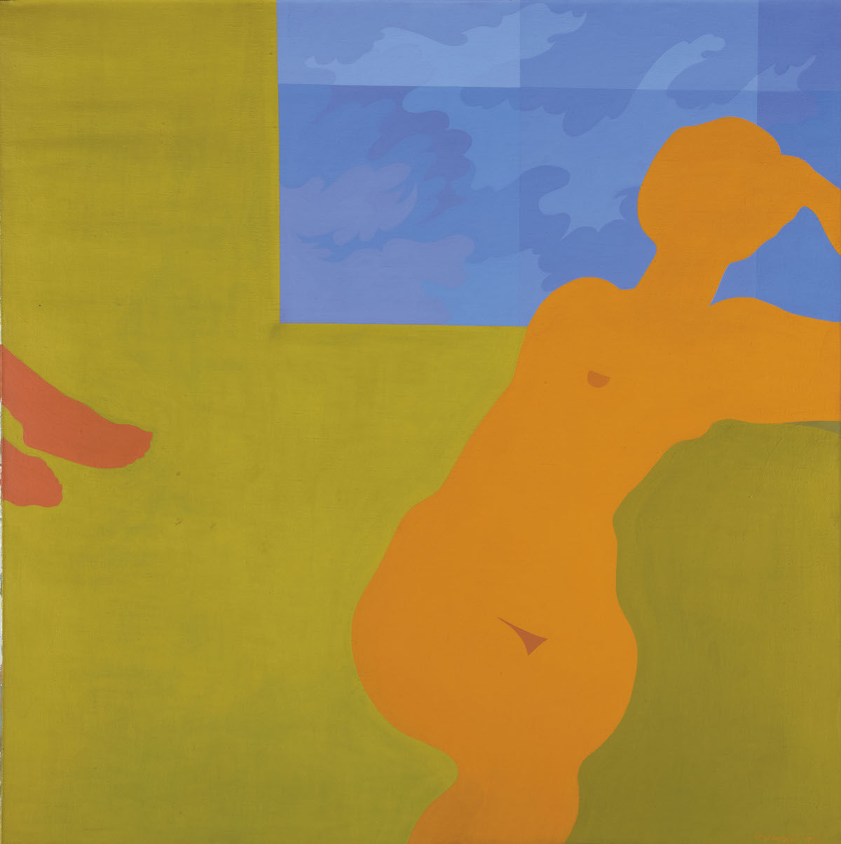 Kay WalkingStick, April Contemplating May, 1972, acrylic on canvas. © Kay WalkingStick. Courtesy of the artist and the June Kelly Gallery.