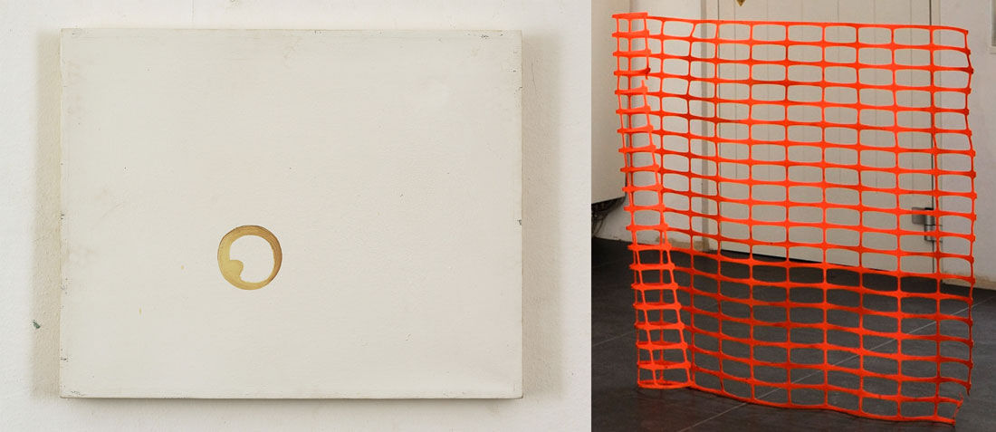 RafalBujnowski,Coffee Stain, 2002, and Lode Geens, Hek, 2009, courtesy Private Collection, Belgium