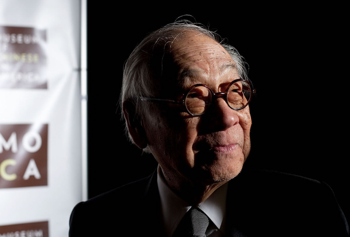I.M. Pei at a Museum of Chinese in America gala in 2009. Photo by Dario Cantatore/Getty Images.