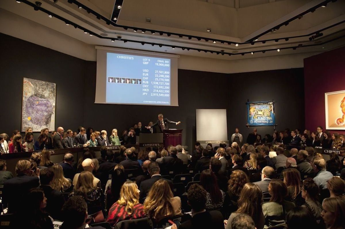 A sales at Christie's in London in March 2018. Photo © Christie's Images Limited.