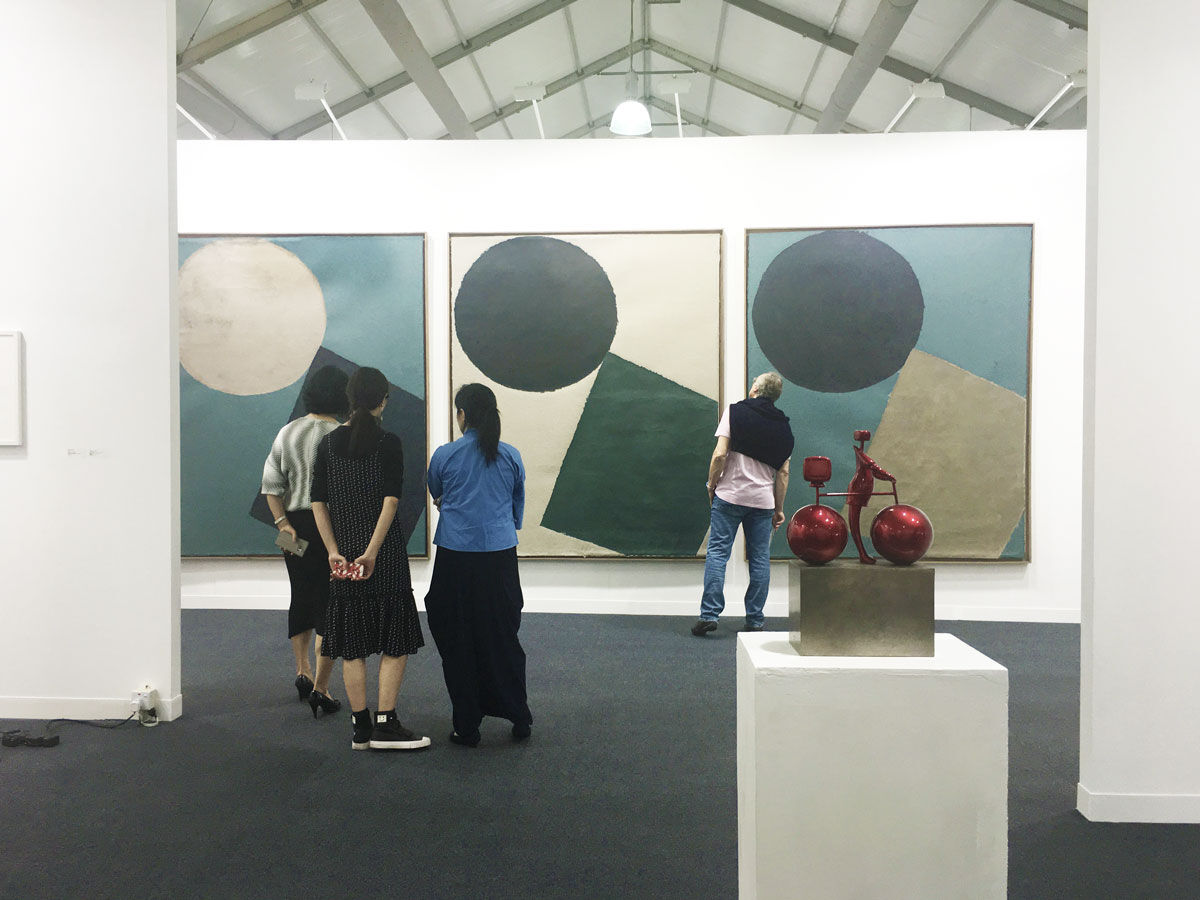 Installation view of Rén Space's booth at Art Central Hong Kong, 2017.