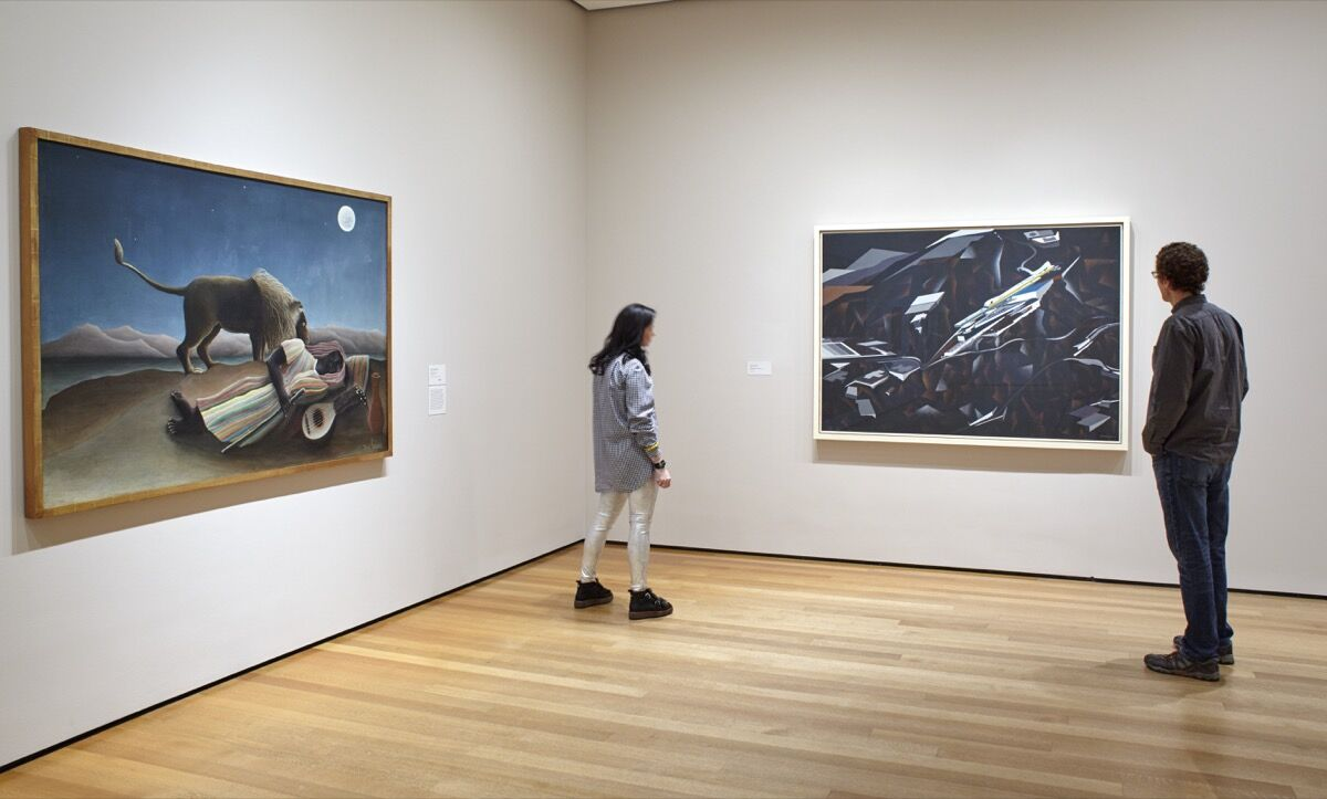 Work by Zaha Hadid, right. Installation view of the collection galleries at The Museum of Modern Art, New York. Photo by Robert Gerhardt, courtesy of MoMA.