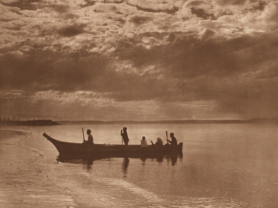 Edward Sheriff Curtis (American, 1868–1952), Sunset on Puget Sound, 1898, plate 316 from the portfolio The North American Indian, volume 9, photogravure, gift of Henrietta E. Failing.