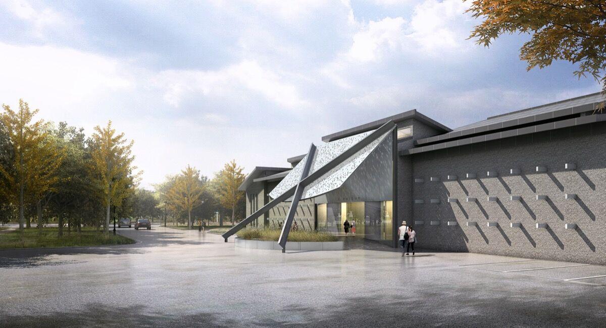 Rendering of the X Museum in Beijing. © TEMP Studio.