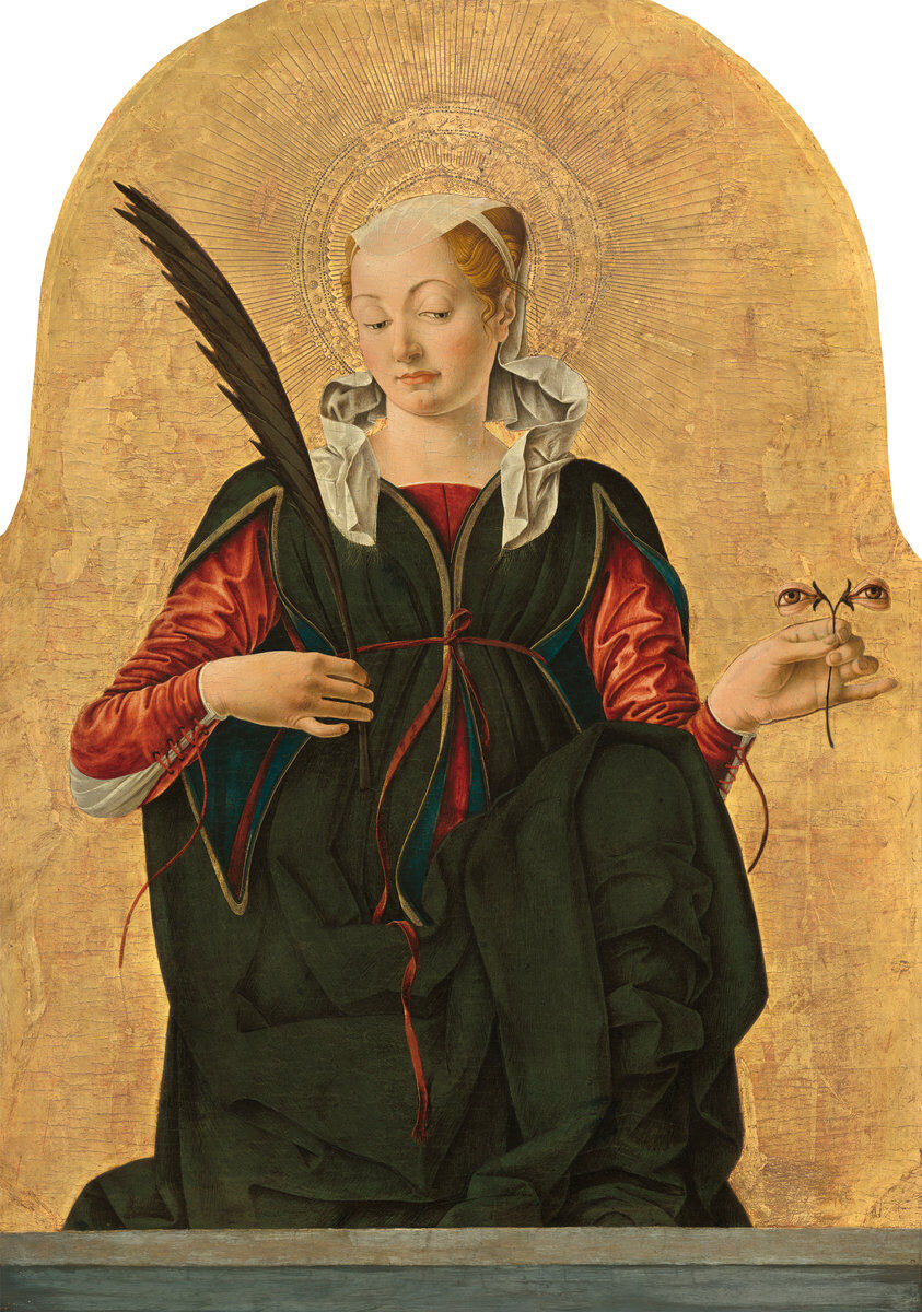 Francesco del Cossa, Saint Lucy, c. 1473/1474.  Courtesy of the National Gallery of Art.