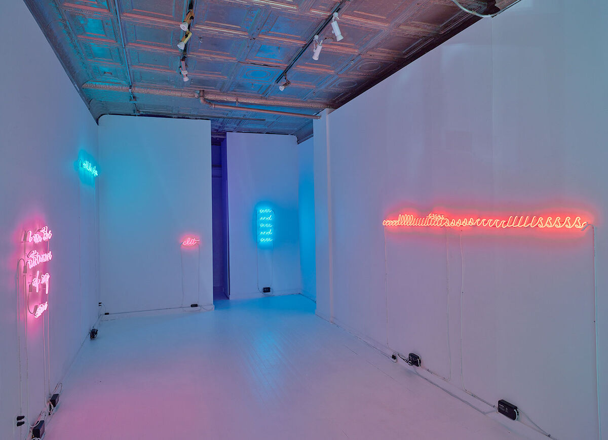 """Installation view of """"Over and Over and Over."""" Photos courtesy of Catinca Tabacaru Gallery."""