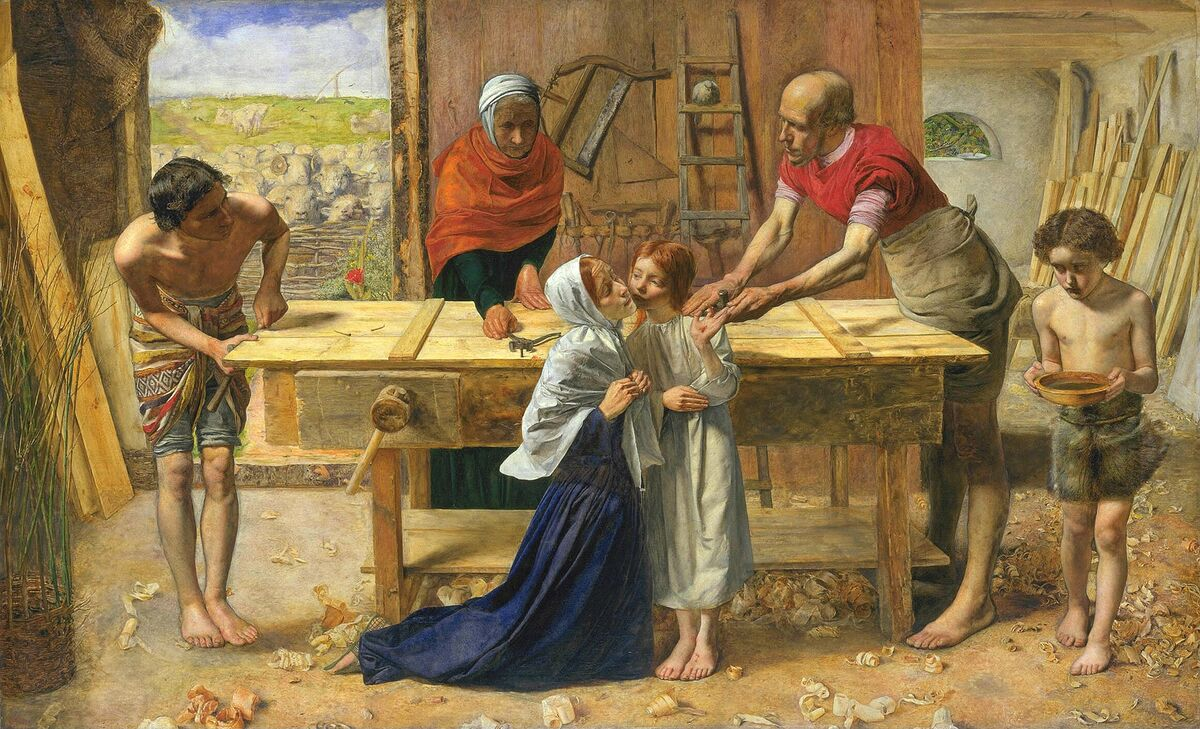 John Everett Millais, Christ in the House of His Parents, 1849–50. Image via Wikimedia Commons.