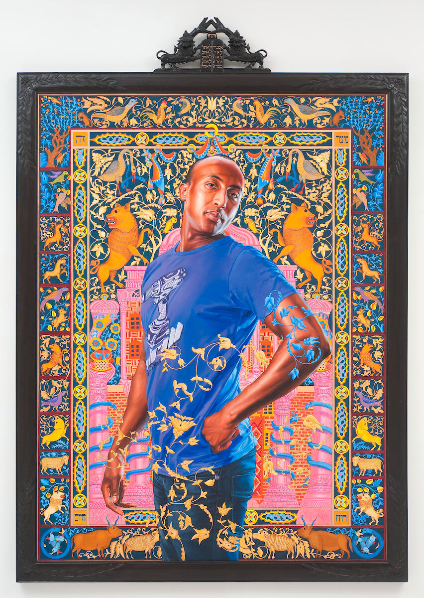 Kehinde Wiley, Alios Itzhak (The World Stage: Israel), 2011. © Kehinde Wiley. Courtesy of the Jewish Museum.
