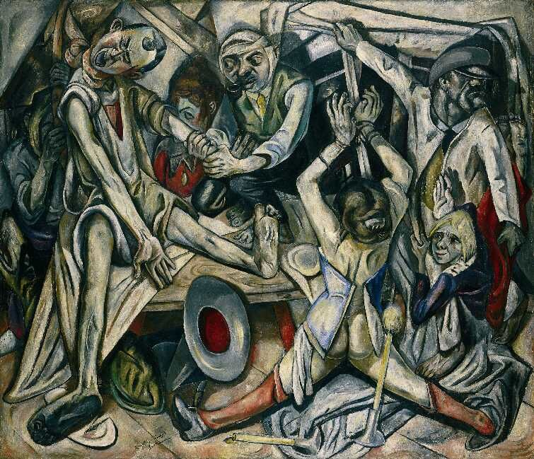 Max Beckmann, The Night (Die Nacht), 1918-19. Photo via Wikimedia Commons.