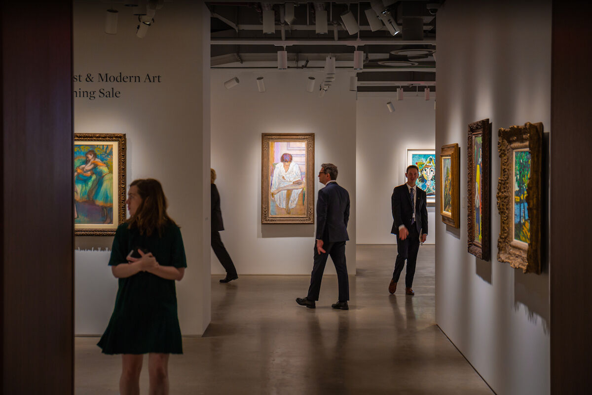 The Impressionist and modern art galleries at the New York headquarters of Sotheby's. Photo courtesy Sotheby's.