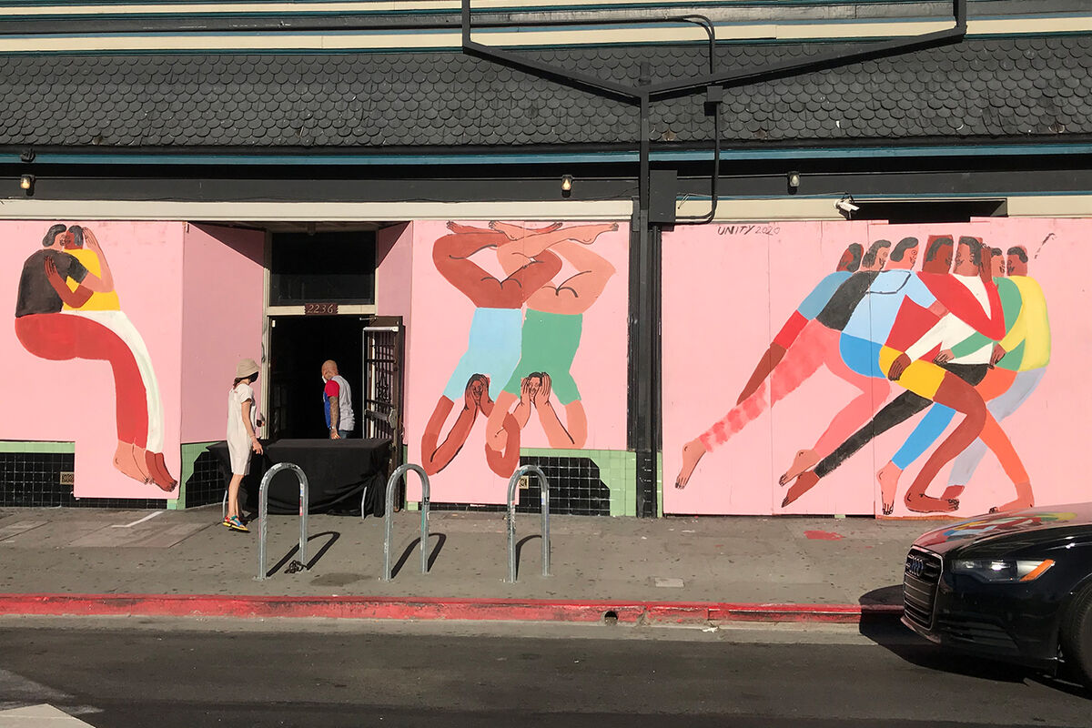 Jeffrey Cheung, mural outside of Starline Social Club, Oakland, 2020. Courtesy of the artist.