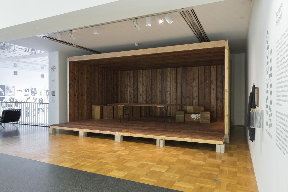 Installation view, BMO Harris Bank Chicago Works: Faheem Majeed, MCA Chicago, Mar 10–Aug 16, 2015