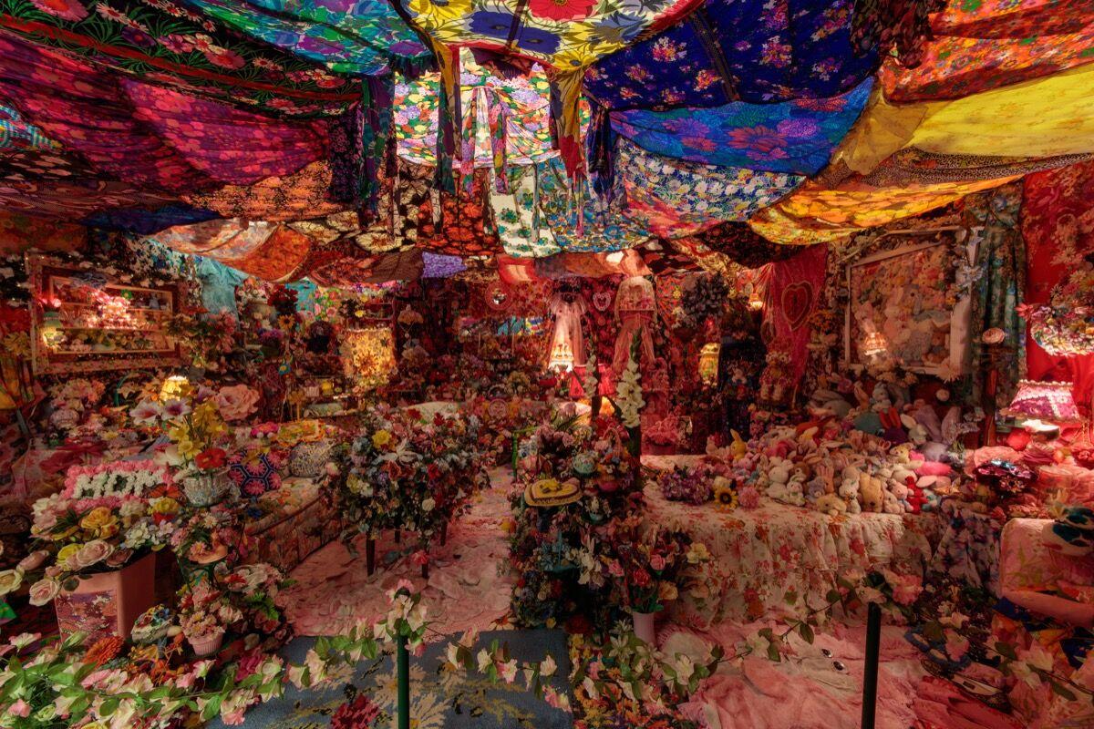 Installation view of Portia Munson, The Garden , 1996. Courtesy of Art Basel.