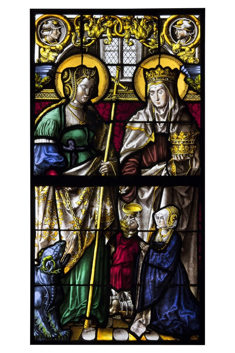 Saint Margaret and Saint Elizabeth presenting a donor, possibly from the church of Saint Peter, Cologne, c. 1525–30. Courtesy of Luhring Augustine and Sam Fogg.