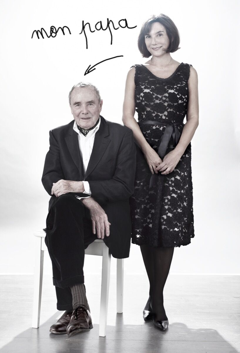 Sophie and her father Bob Calle. Photo by Jean-Baptiste Mondino. Courtesy of the artist.