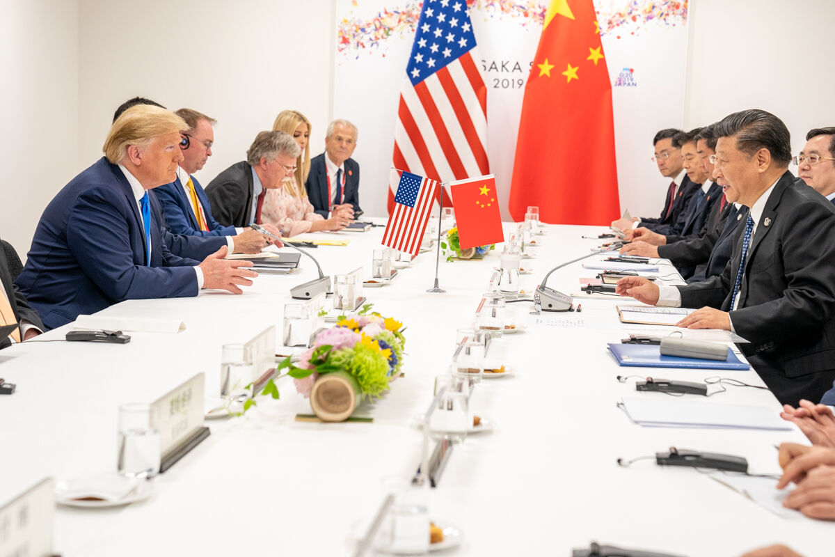 U.S. President Donald J. Trump and Chinese President Xi Jinping at the G20 Japan Summit in Osaka, Japan. Official White House photo by Shealah Craighead, via Flickr.