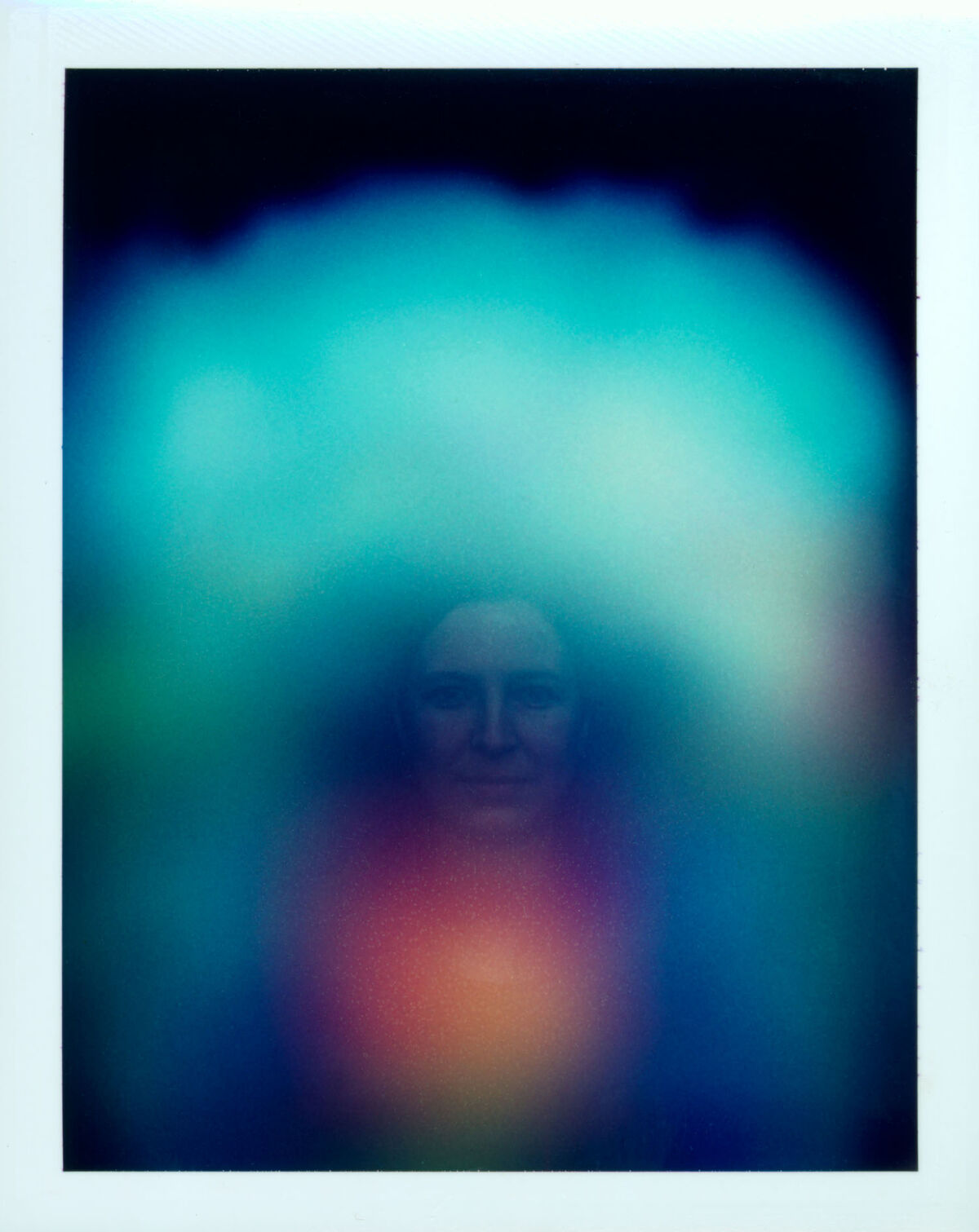 Anne Collier, Untitled Aura Photograph (Tomma Abts), 2002. Courtesy of Creative Time.