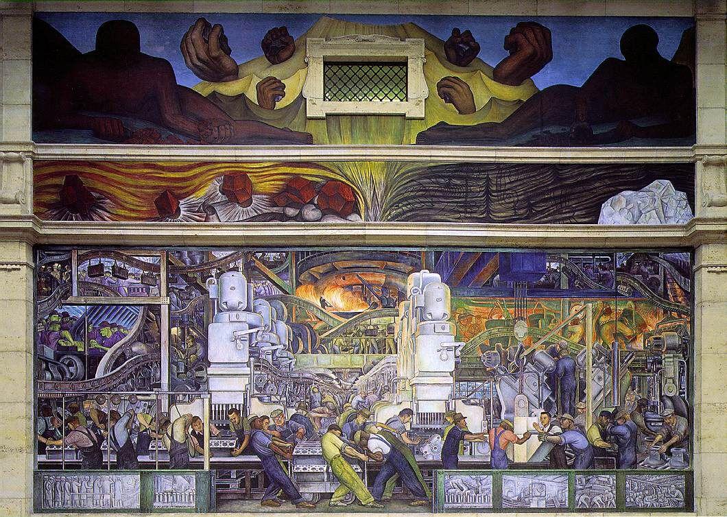 Diego Rivera, Detroit Industry, 1932–33. Image via Wikimedia Commons.