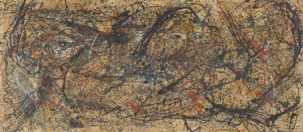 Work in the style of Jackson Pollock. Courtesy of the Winterthur Museum.