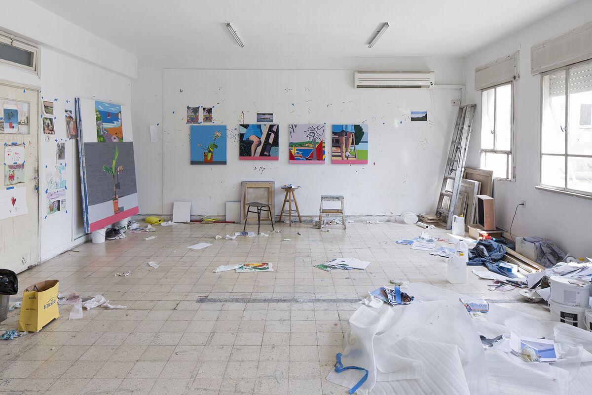 Guy Yanai's studio.Image courtesy© 2015 Ameringer   McEnery   Yohe and the artist.