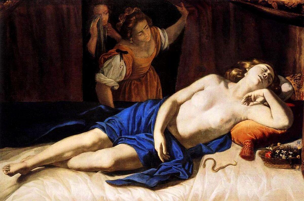 Artemisia Gentileschi, Cleopatra, between ca. 1633-1635.