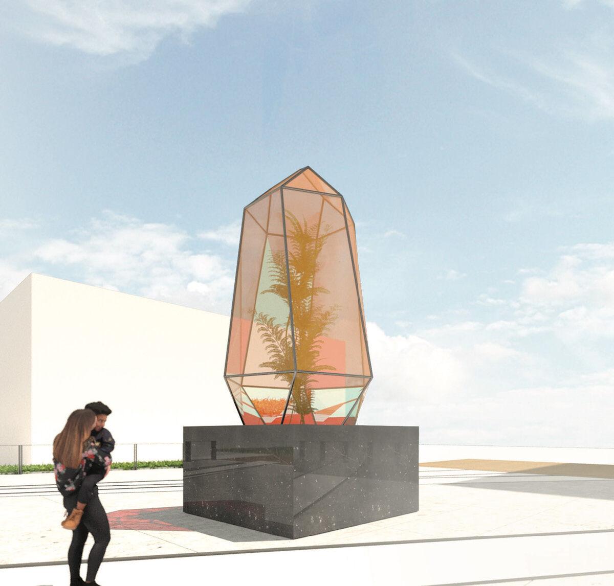 Kapwani Kiwanga, rendering of On growth. Courtesy the artist and High Line Art.