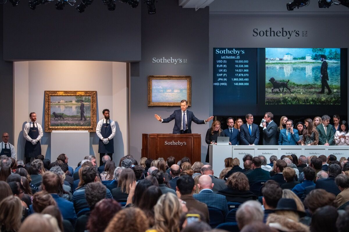 Sotheby's Impressionist & Modern Art Evening Sale, November 12, 2019. Courtesy of Sotheby