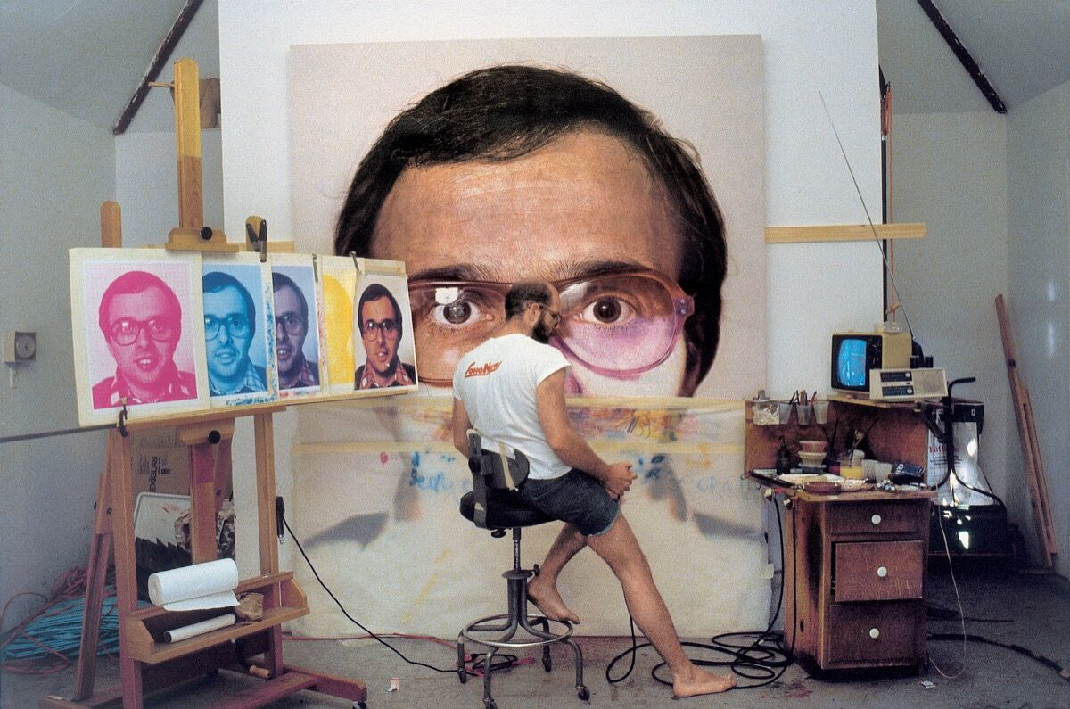 Chuck Close painting Mark, 1978–79. Courtesy of Chuck Close and Pace Gallery, New York.