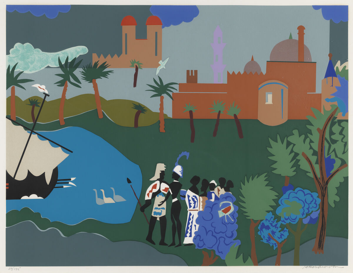 Romare Bearden, Odyssey Series, ca. 1970s, silkscreen. Courtesy the Pennsylvania Academy of Fine Arts.