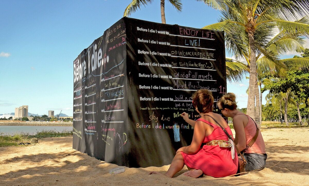 Candy Chang, Before I Die, Townsville, Australia. Photo by Kim Kamo.