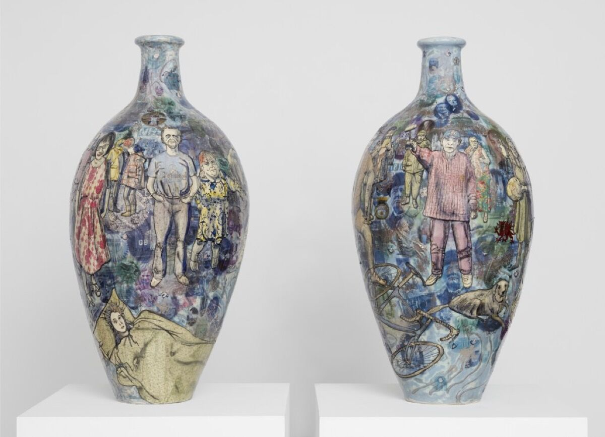 Grayson Perry, Matching Pair, 2017. Photo by Robert Glowacki © Grayson Perry. Courtesy of the artist and Victoria Miro, London and Serpentine Gallery.