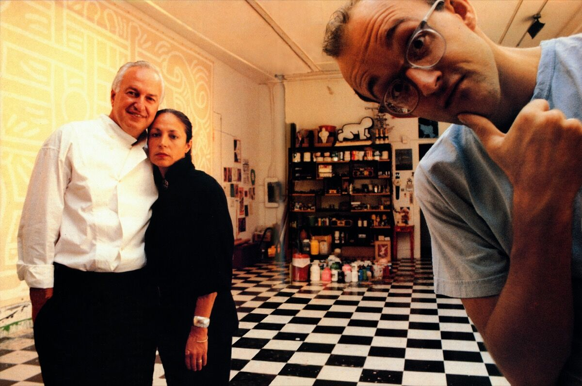 Don and Mera Rubell with Keith Haring, 1989. Courtesy of the Rubell Museum, Miami.