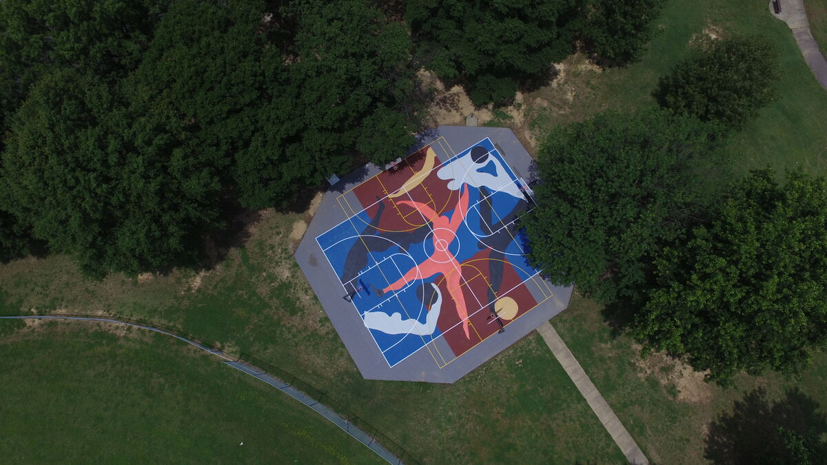 Sol Terrain De Basket project backboard is turning neglected basketball courts