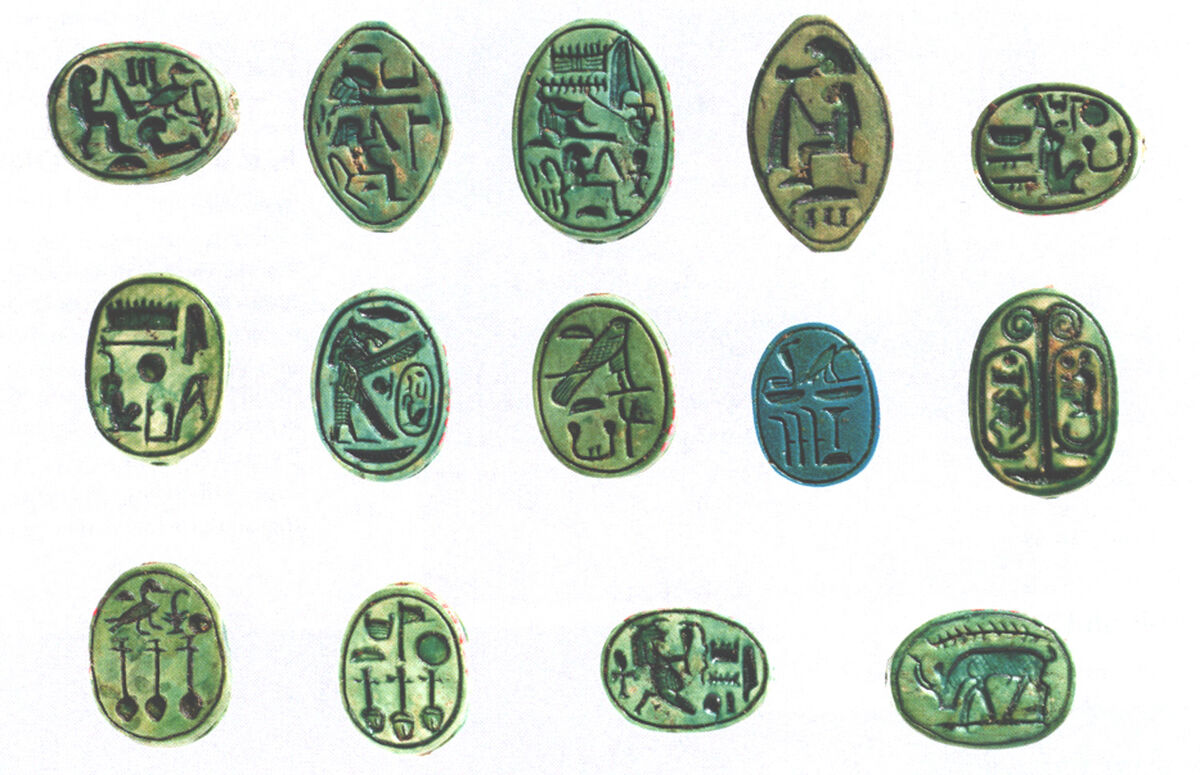 Scarabs and Seal Amulets, ca. 1479-1458 B.C. Courtesy of The Metropolitan Museum of Art.