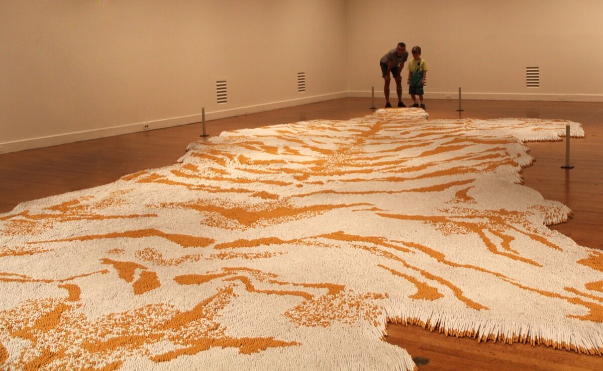 Installation view of Xu Bing, Honor and Splendor at the Virginia Museum of Fine Arts, Richmond, 2011. Courtesy of Xu Bing Studio.