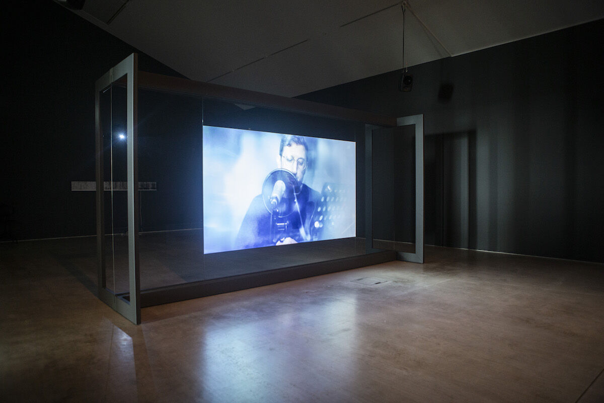 Lawrence Abu Hamdan, installation view of Walled Unwalled, 2018, Turner Prize 2019. Photo by Stuart Leech.