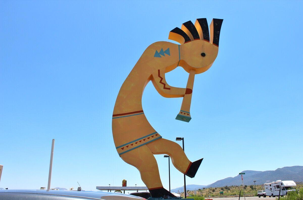The world's largest Kokopelli, Camp Verde, Arizona, 2015. Photo by Scott Blackwell, via Flickr.