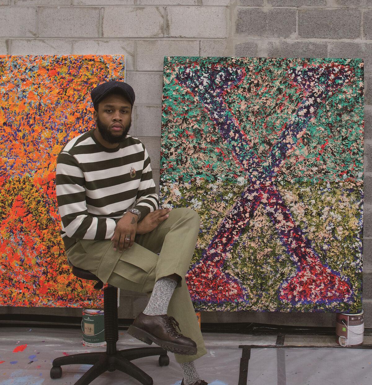 Portrait of Vaughn Spann. © Vaughn Spann. Courtesy of the artist and Almine Rech.