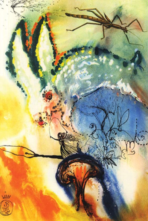 Salvador Dali, Down the Rabbit Hole, 1969. © 2016 Artists Rights Society (ARS), New York / ADAGP, Paris.