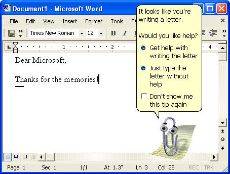 The Life and Death of Microsoft Clippy, the Paper Clip the