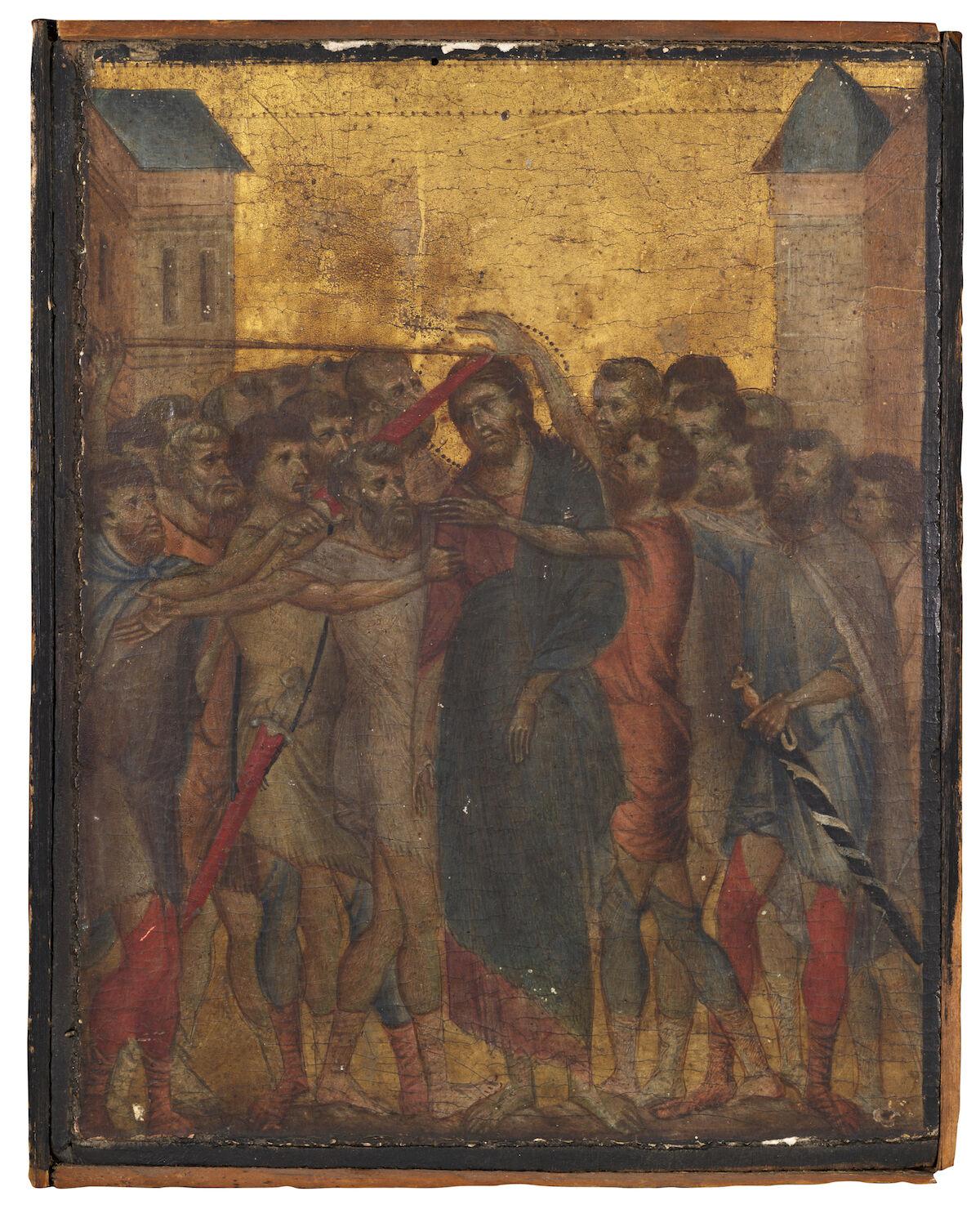 Cimabue, The Mocking of Christ or Christ Mocked.  Sold for €24.1 million ($26.8 million). Image © Actéon.