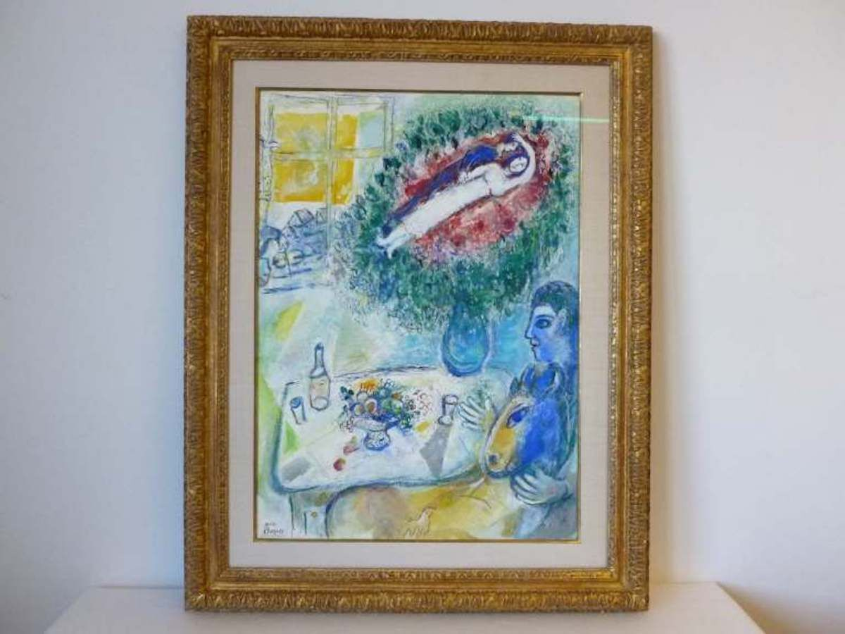 A Marc Chagall painting, Reverie, sold by Timothy Sammons. Photo courtesy Manhattan District Attorney's Office.