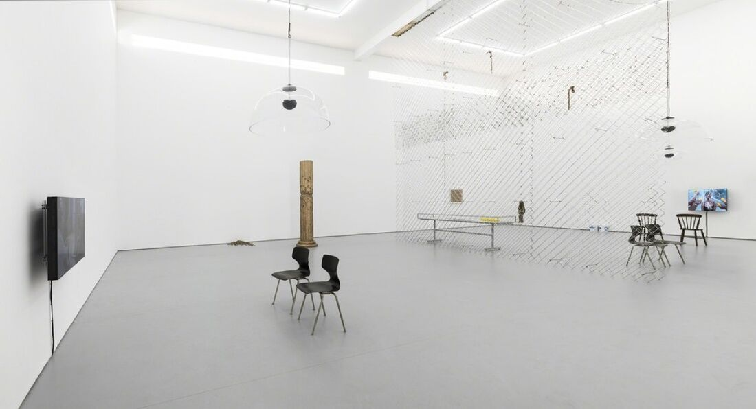 Installation view of He Xiangyu at White Space Beijing. Photo courtesy of the gallery.