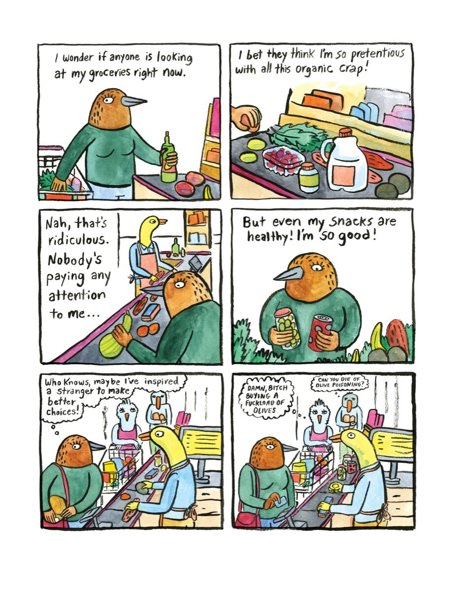 Excerpt from Lisa Hanawalt, Hot Dog Taste Test, 2016. Courtesy of Drawn & Quarterly.