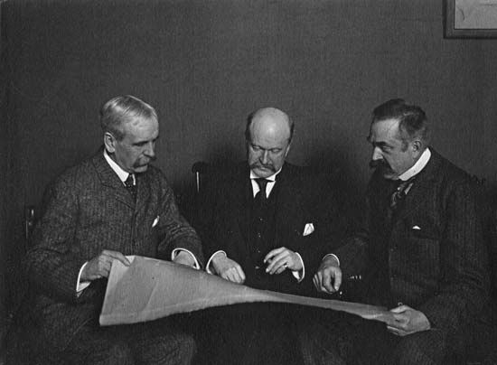 Group photo of architectural firm McKim, Mead and White: Charles Follen McKim, William Rutherford Mead and Stanford White. Image via Wikimedia Commons.