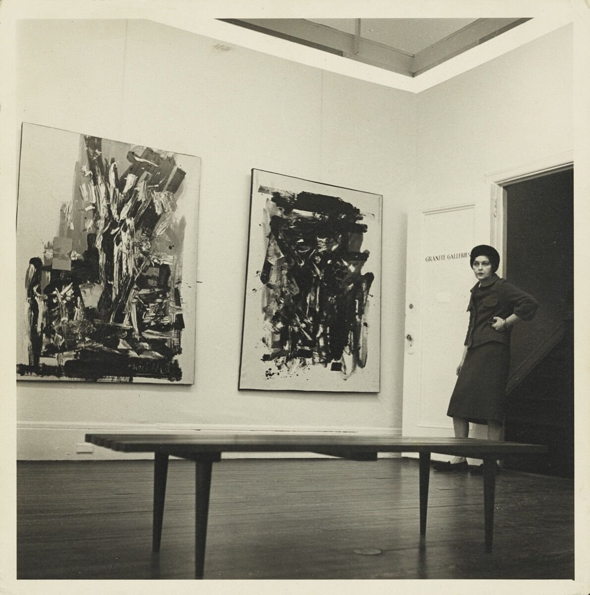 Michael West at Granite Galleries, 1963. Courtesy of the Collection of The Michael (Corinne) West Estate Archives.