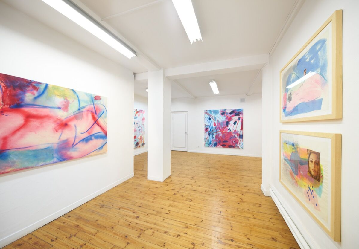 "Installation view of Sadie Laska's work in ""Nudes"" in Saint Étienne at Ceysson & Bénétière. Courtesy of the artist and Ceysson & Bénétière."