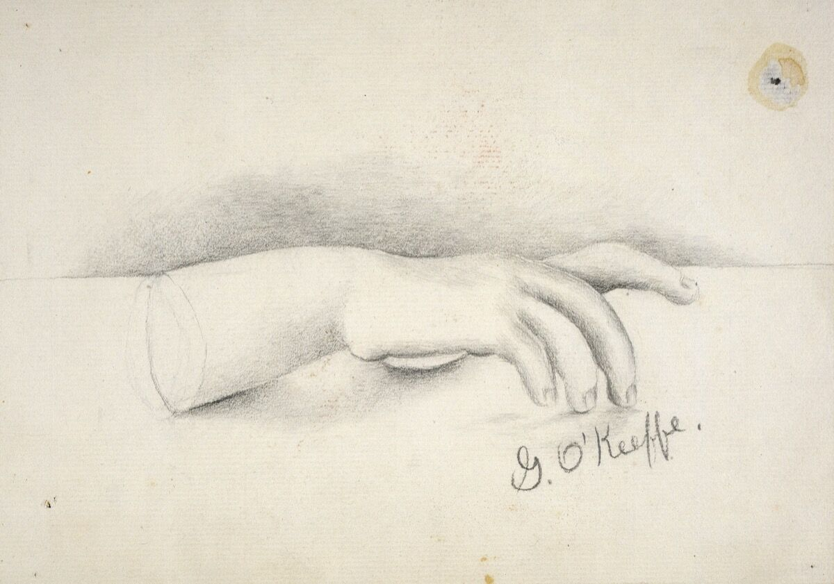Georgia O'Keeffe, Untitled (Hand), c. 1902. Gift of The Georgia O'Keeffe Foundation. Georgia O'Keeffe Museum (2006.05.002). © Georgia O'Keeffe Museum.