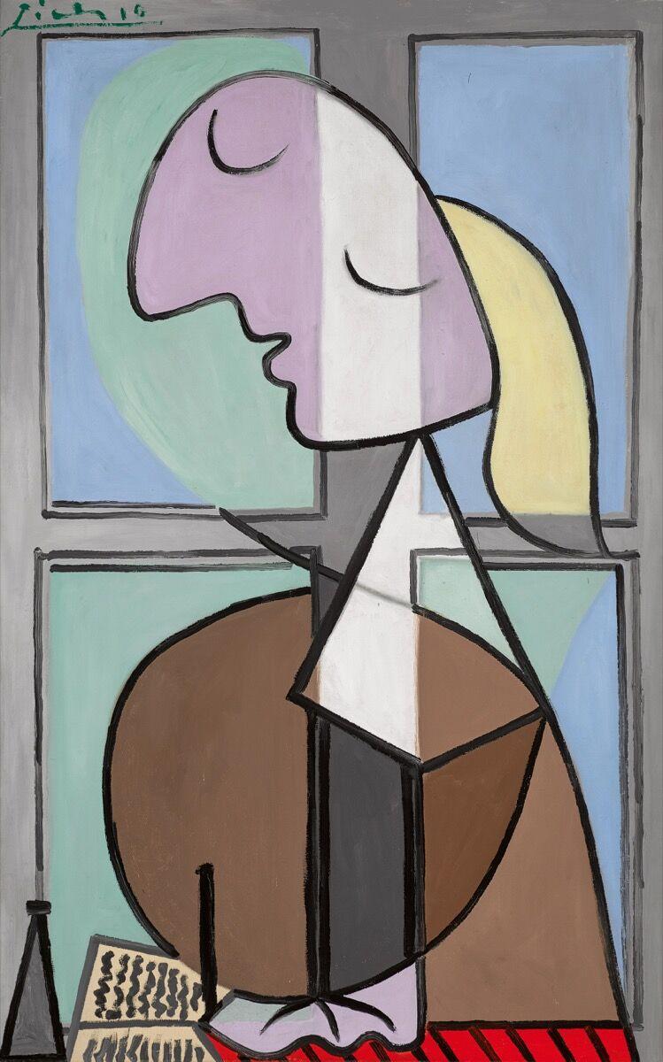 Pablo Picasso, Buste de femme de profil (Femme écrivant), 1932. © 2018 Estate of Pablo Picasso / Artists Rights Society (ARS), New York. Courtesy of Sotheby's.